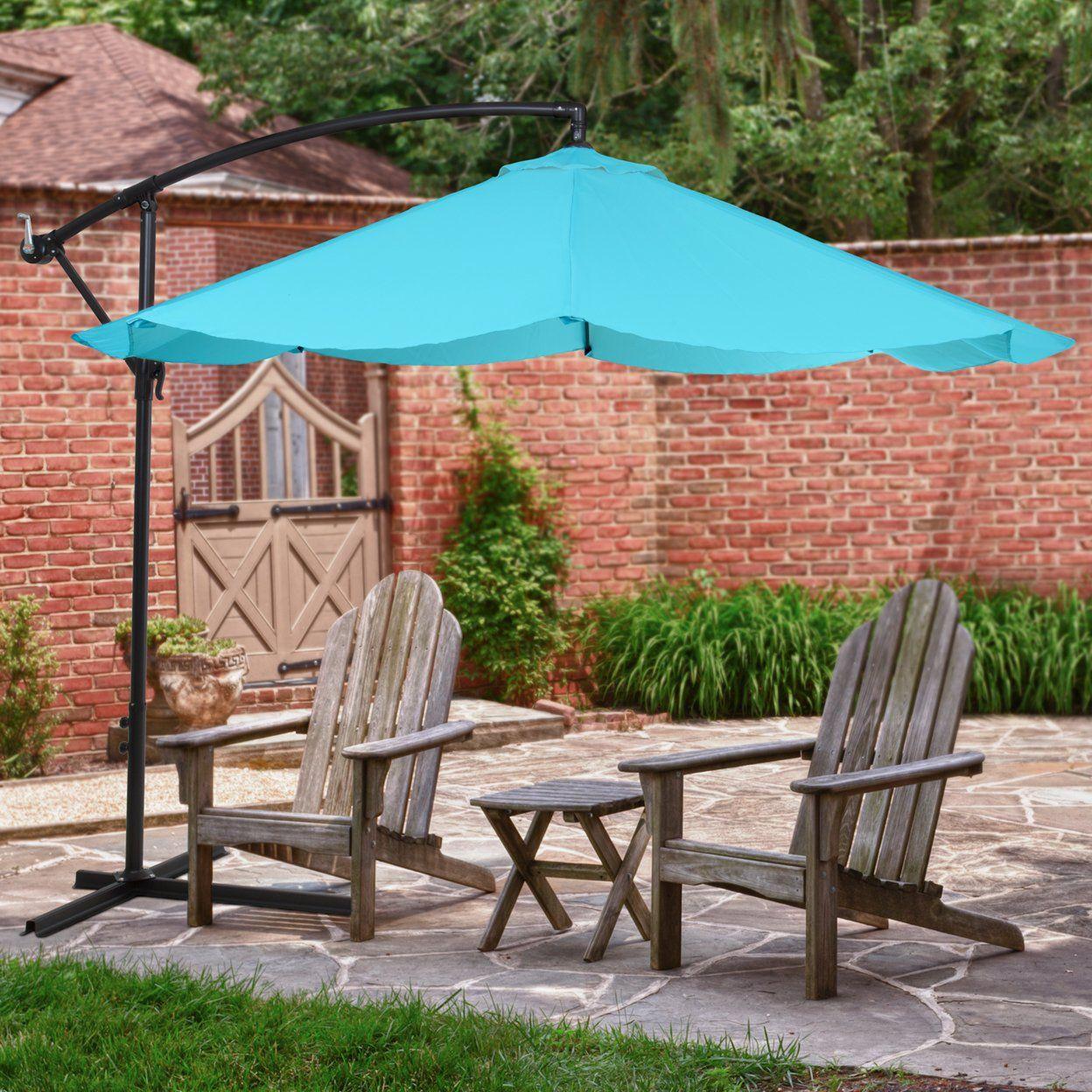 Pure Garden Offset 10 Foot Aluminum Hanging Patio Umbrella