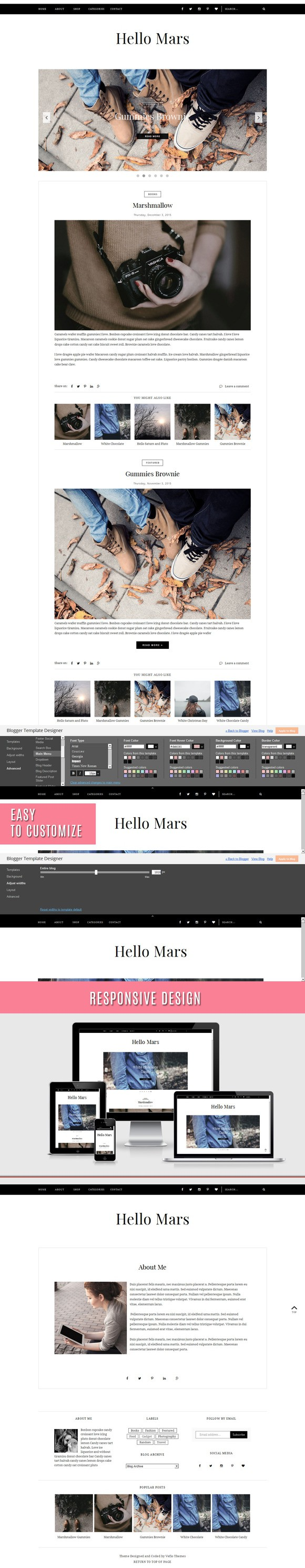 Blogger Template - Hello Mars   Template and Blogger templates