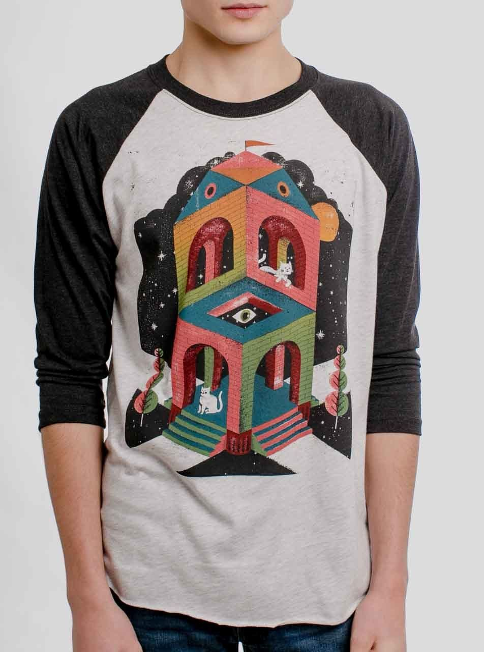 8b874774 Space Cathedral - Multicolor on Heather White and Black Triblend Raglan