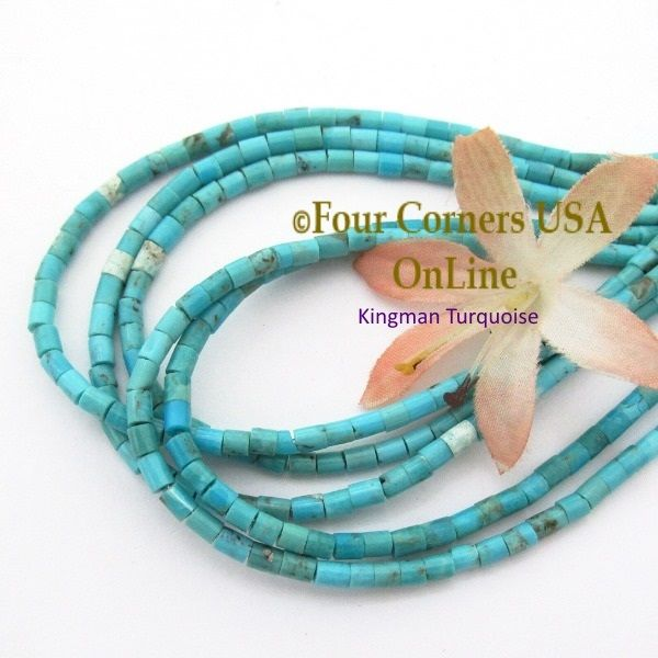 blue beads tq round usa online kingman pin turquoise old inch strands
