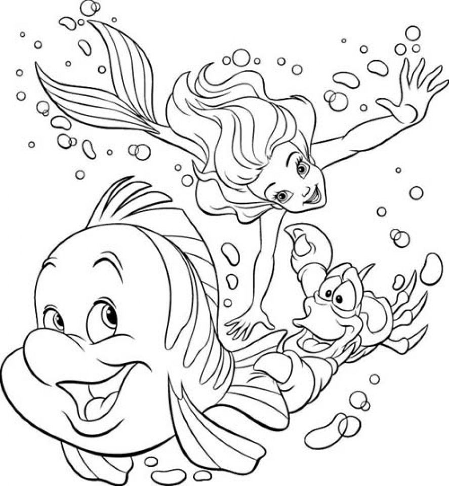 The Little Mermaid Coloring Page | Coloring Pages of Epicness ...