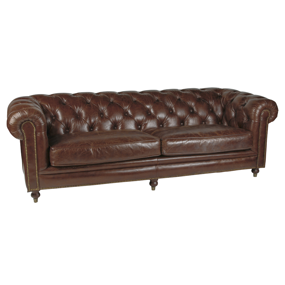 Best Brown Leather Tufted Sutton Sofa Tufted Brown Leather Sofa 400 x 300