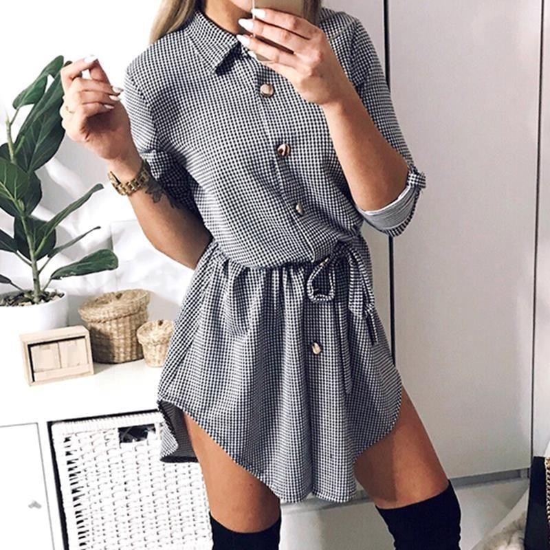 9b90979b Autumn Plaid Shirt Dresses #shirtdress #cebufashion #cebucity #fashion  #styleinspo #dress