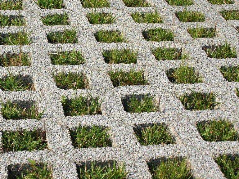 Grigliato erboso in calcestruzzo greenpark by ediltubi for Adoquines para jardin