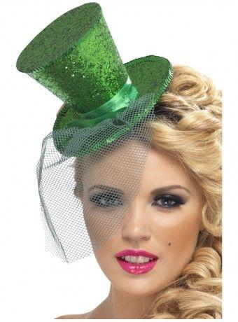 Comprar Mini Chistera Purpurina Verde. Ideal para Carnaval a99343fd065