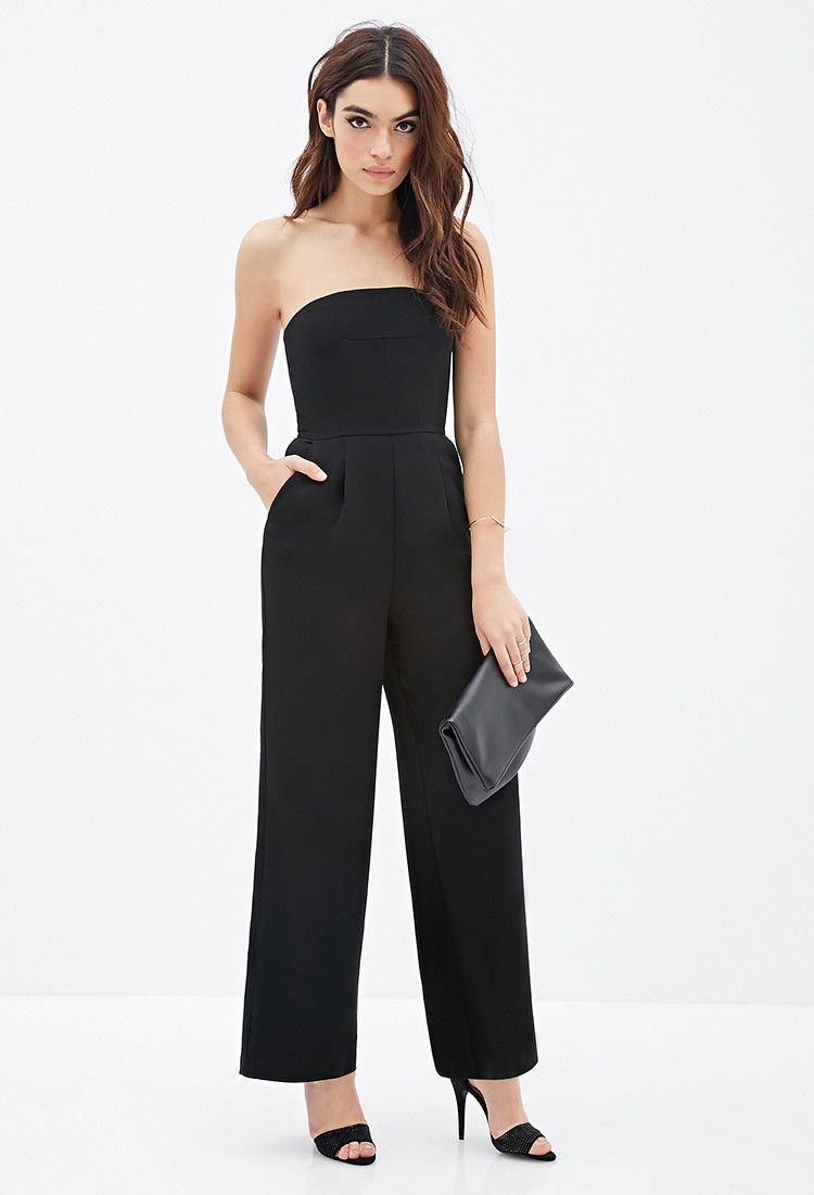 7b5cf6011ef36f Strapless Wide-Leg Jumpsuit - Jumpsuits   Playsuits - 2000118169 - Forever  21 EU English