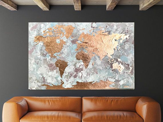Map of the world, Copper leaf art, Modern Map art, World map ... Work World Map Wall Decor on world map flooring, world map wall mural, world map lanterns, world map dining room, world map stationery, world map decorative box, world map wall office, world map pillows, world map comforter set, world map bookends, world map rings, world map games, world map wall decal, world map wall cling, world map vases, world map mirrors, world map wall paint, world map vintage, world map floral, world map apparel,