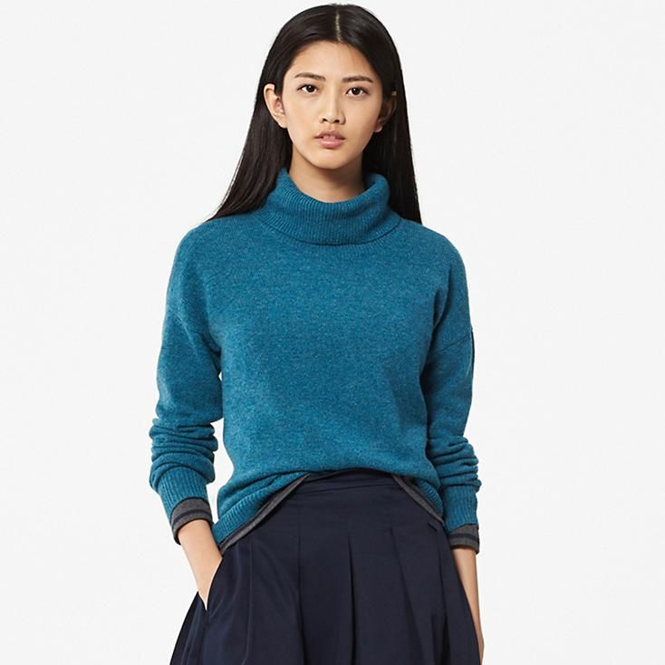 WOMEN LAMBSWOOL TURTLENECK SWEATER | Fall/Winter warm tops and ...