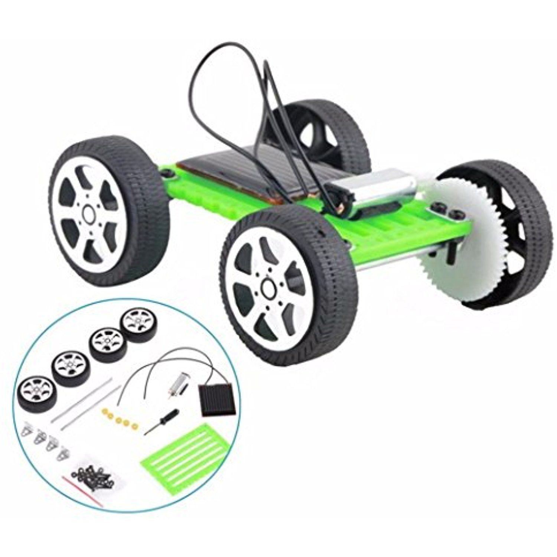Sunsee Mini Solar Powered Toy DIY Car Kit Children Educational