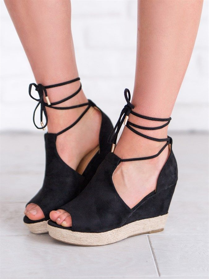 94f27a598 Drake Lace Up Wedge