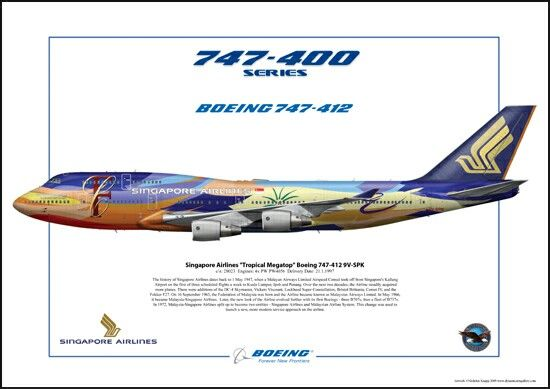 20fda8352a78 Singapore Airlines B747-400 Tropical Megatop Livery