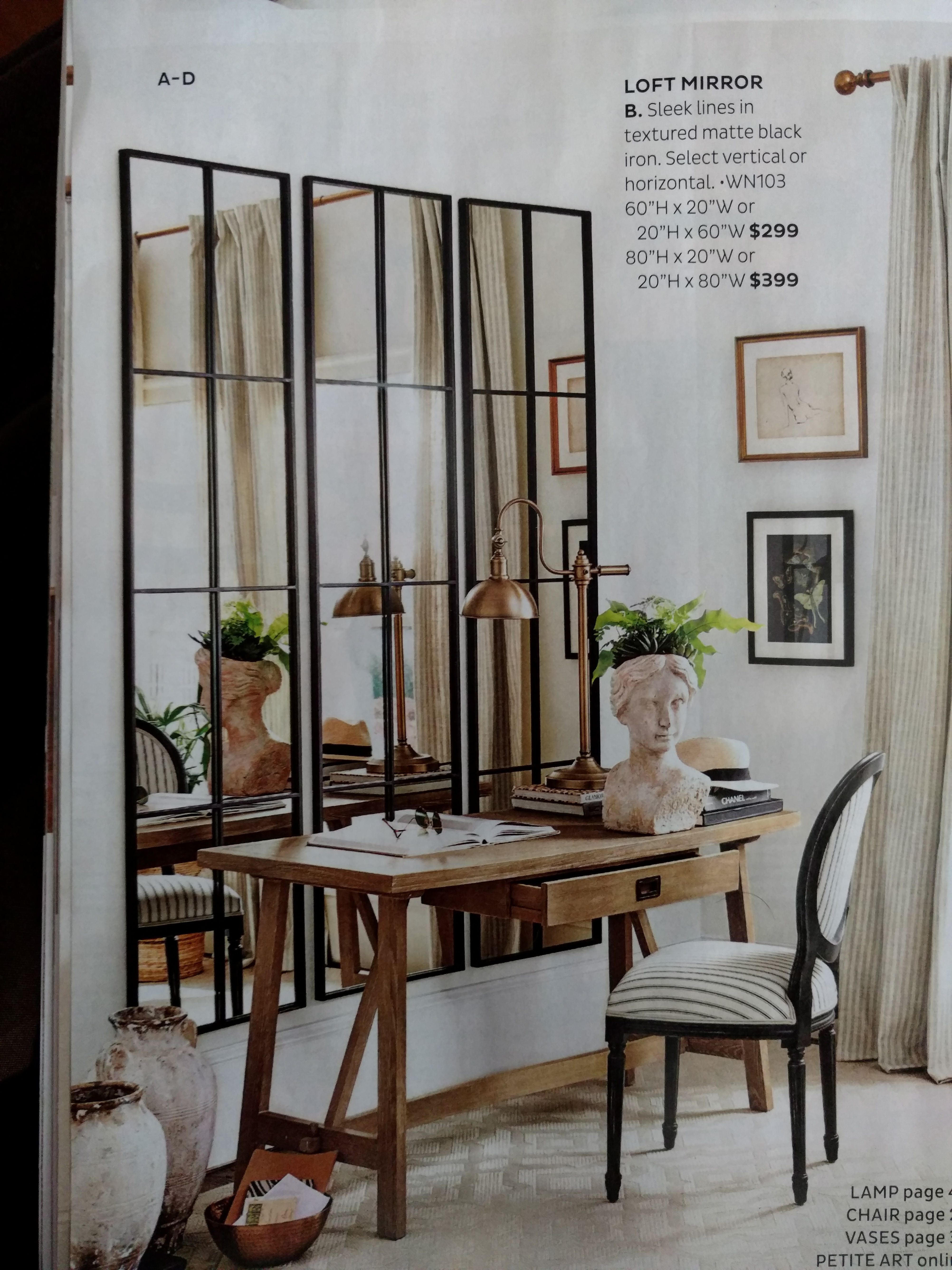 Loft Mirror Ballard Designs In 2021 Home Decor Home Mirror Dining Room