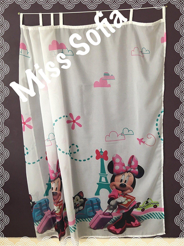 Süsse Minnie Mouse Gardine für das Kinderzimmer Fenster. Der ...