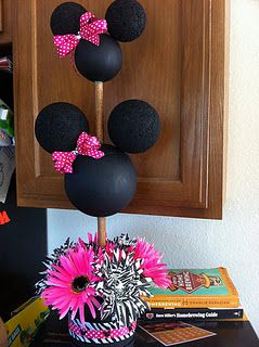 a9d3e7e565aa4 DIY Minnie Mouse Topiary #DIY #Party #Parties #Disney #Topiaries #Mickey  #MickeyMouse #Decorations #Decorate #Decor