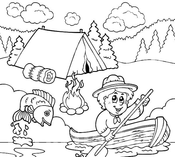 Image Result For Fishing Coloring Pages Punch Needle