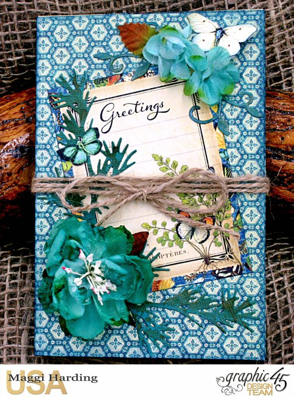 Card Making Ideas Nature Part - 33: Post-it Notepad, Nature Sketchbook, Tutorial Maggi Harding, Graphic 45 (05