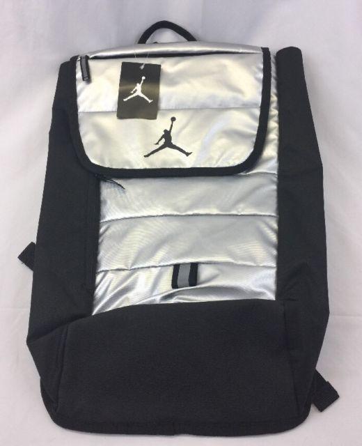 00cc47d0414 Nike Air Jordan 8 Retro Commuter Backpack Silver Black 9A1747-250 New One  Size   eBay