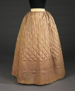 1840-55 Quilted Petticoat