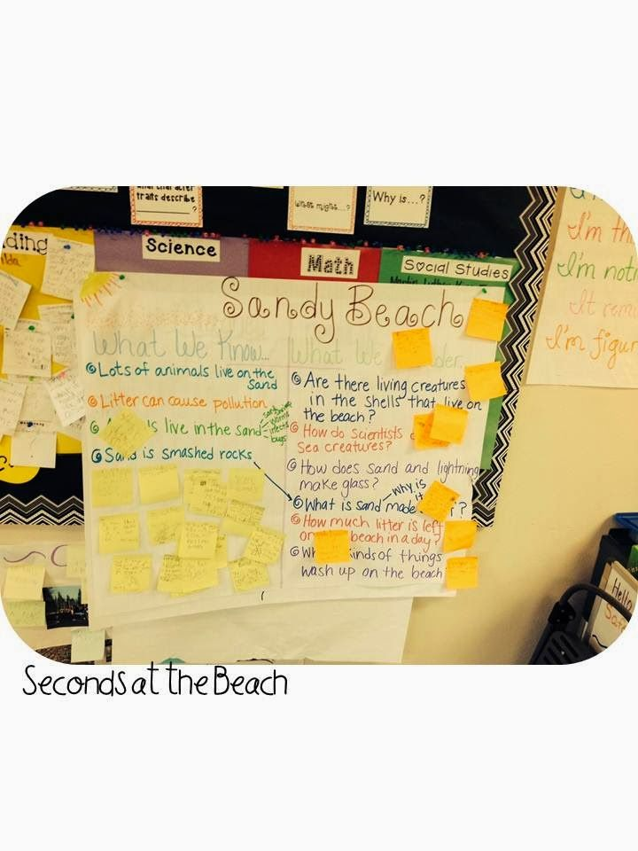 All about the Beach Inquiry chart (KWL chart) 21st Century - kwl chart