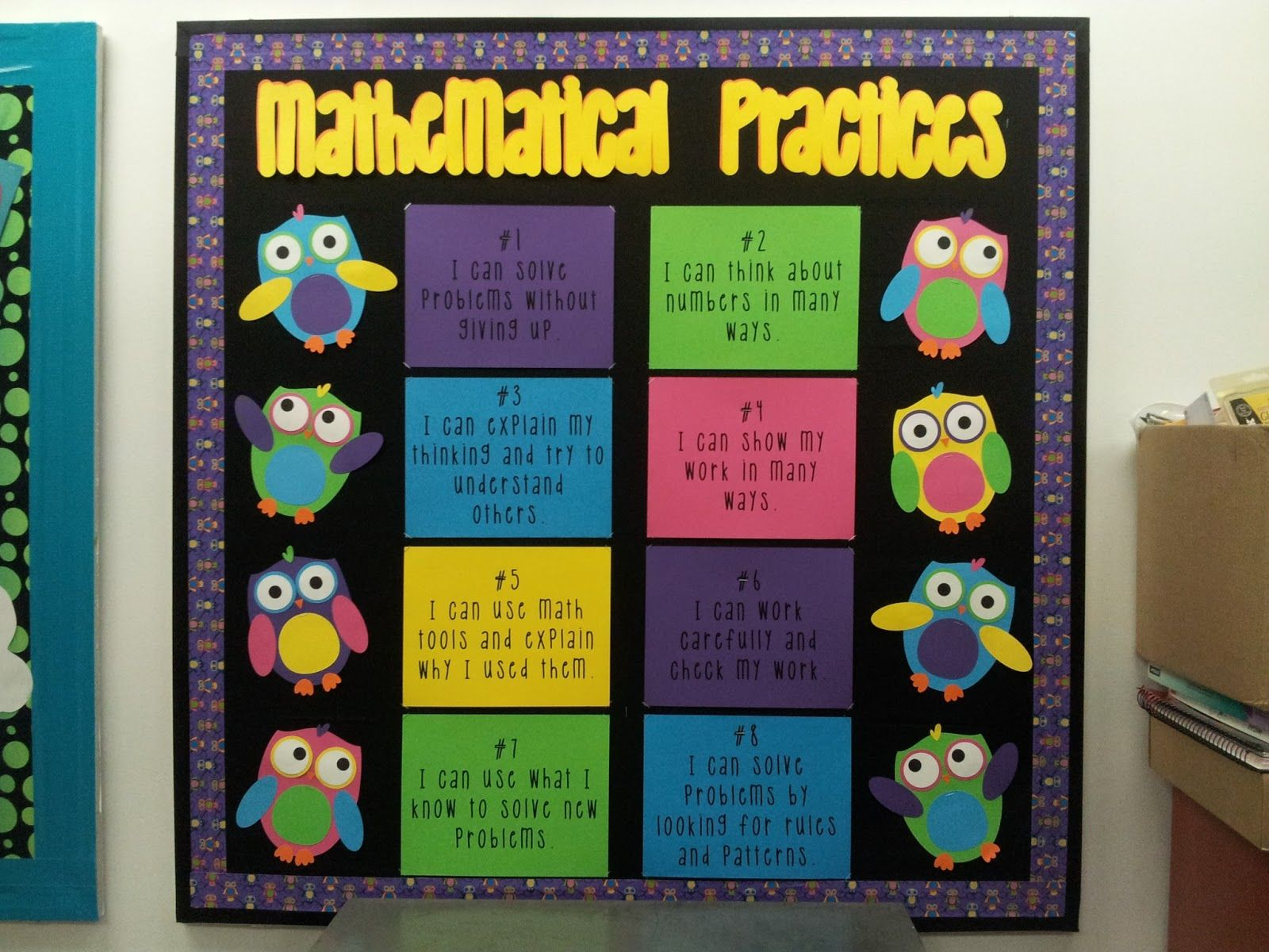 Classroom Bulletin Board Design For High School ~ Math by tori standards for mathematical practices