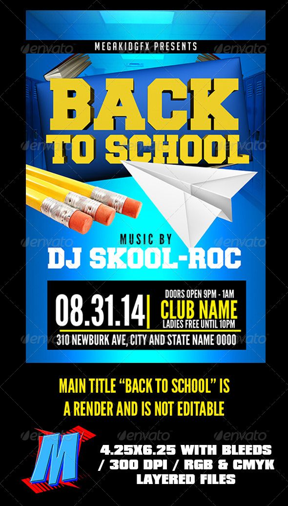 Back To School Flyer Template | Flyer Template, Print Templates
