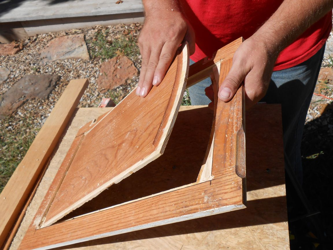 Diy Changing Solid Cabinet Doors To Glass Inserts Wood Cabinet