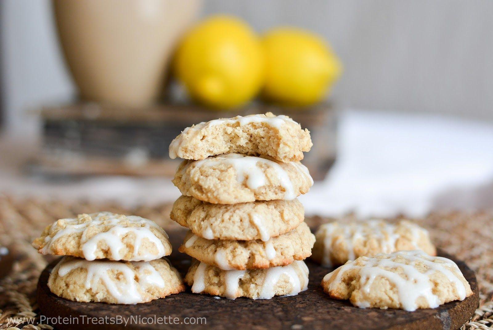Protein Treats By Nicolette : Glazed Lemon Protein Sugar Cookies