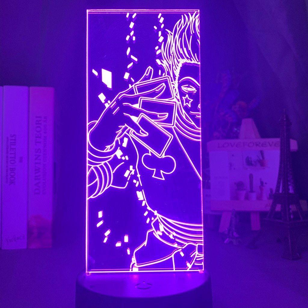 Hunter X Hunter 3d Led Lamp In 2020 Anime Decor Hunter X Hunter Hisoka
