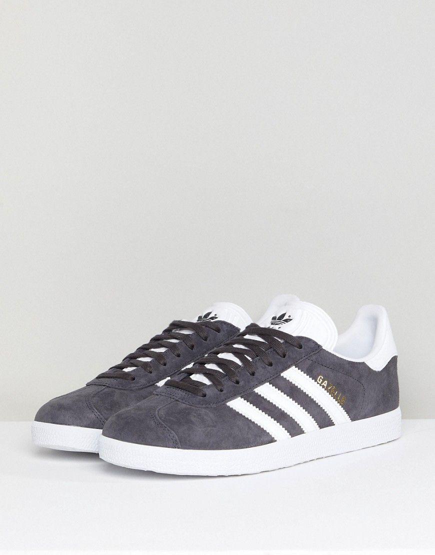 adidas Originals Gazelle Sneakers In Dark Gray - Gray | Sneakers ...