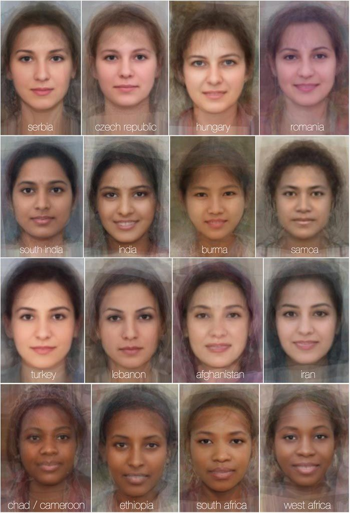 The Average Faces Of Women Around The World  Beauty In -6541