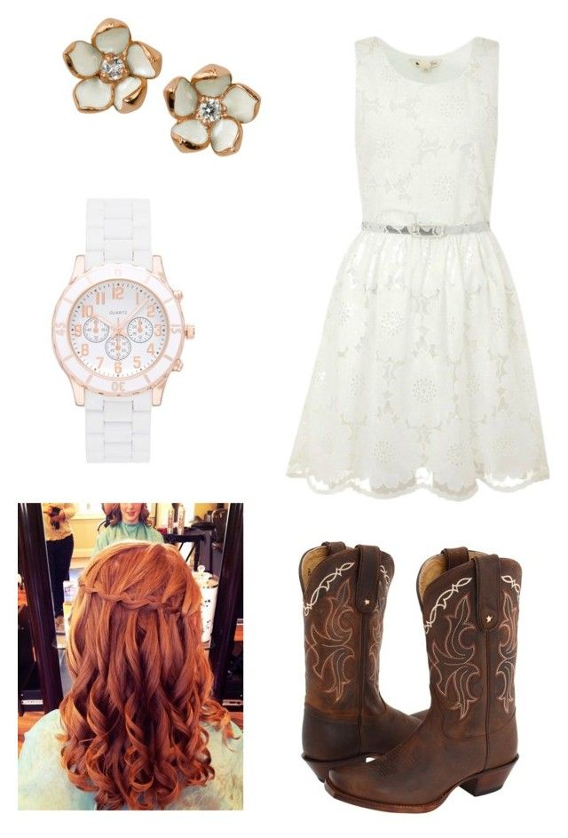 Country outfit by fat2fit394 on Polyvore featuring polyvore, fashion, style, Yumi, Tony Lama, Forever New, Shaun Leane, country and clothing