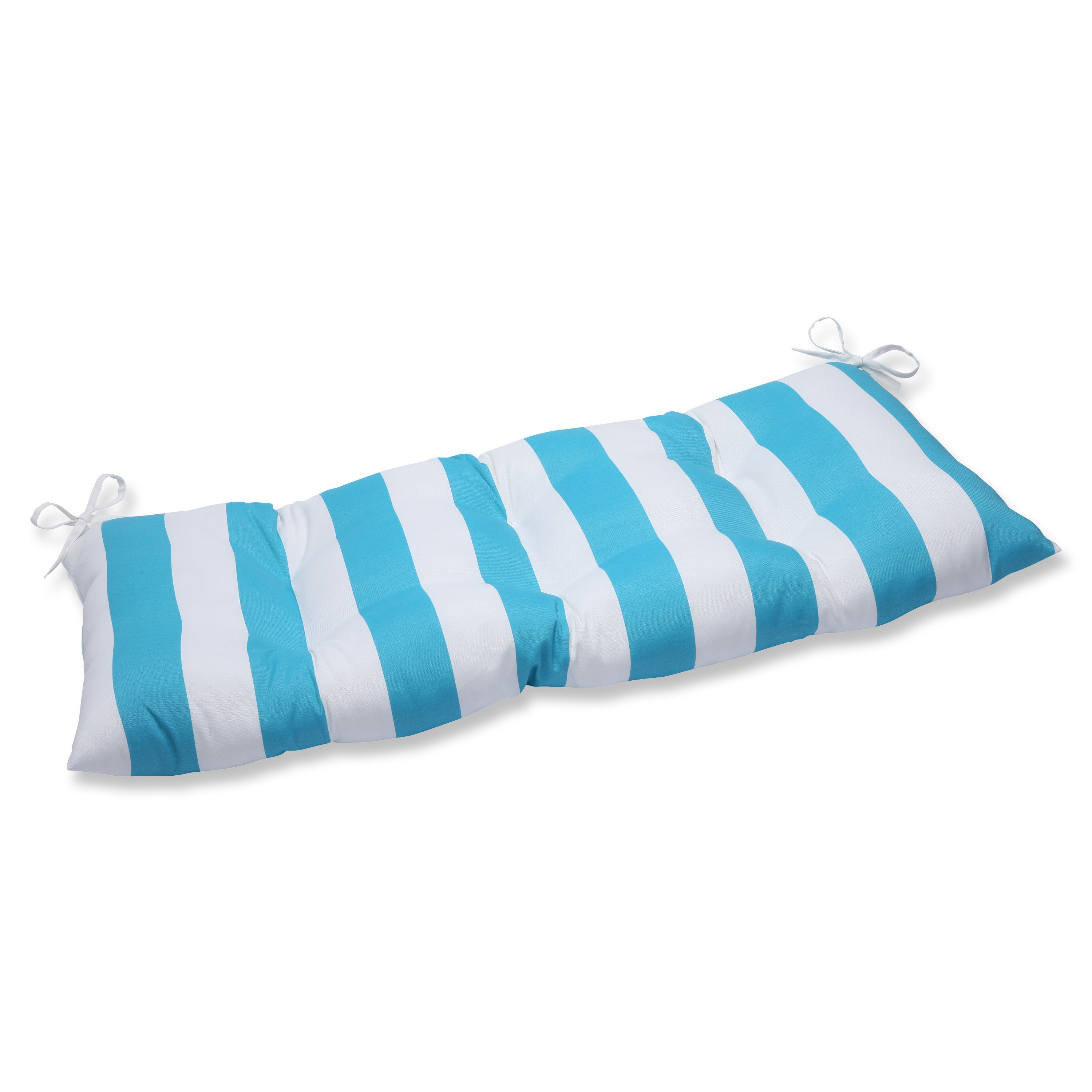 Pillow Perfect Outdoor Indoor Cabana Stripe Turquoise Swing Bench Cushion Perfect Pillow Custom Outdoor Cushions Love Seat