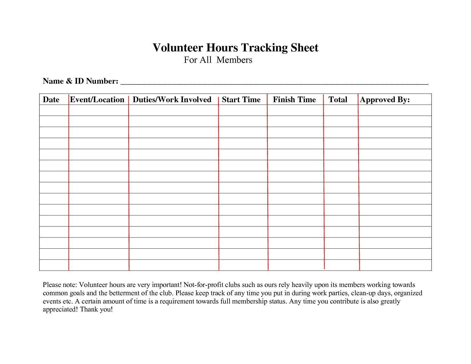 Volunteer Template Excel Hours Log Sheet What Best Ideas
