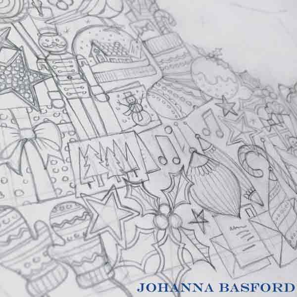 Johanna Basfords Christmas Coloring Book October 2016