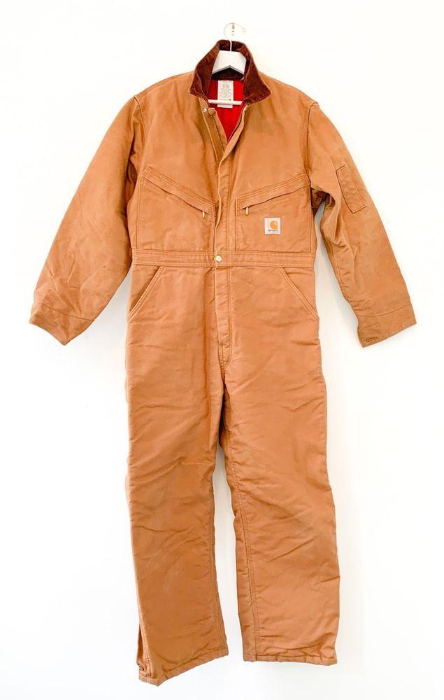 ebay sponsored nwot carhartt mens coveralls 42 short duck on best insulated coveralls for men id=53160