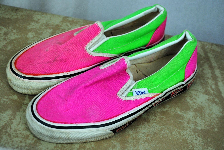 471f76cc6ef41 RARE Vintage 80s Neon Vans Deck Shoes - RAD | 80's/90's | Neon vans ...