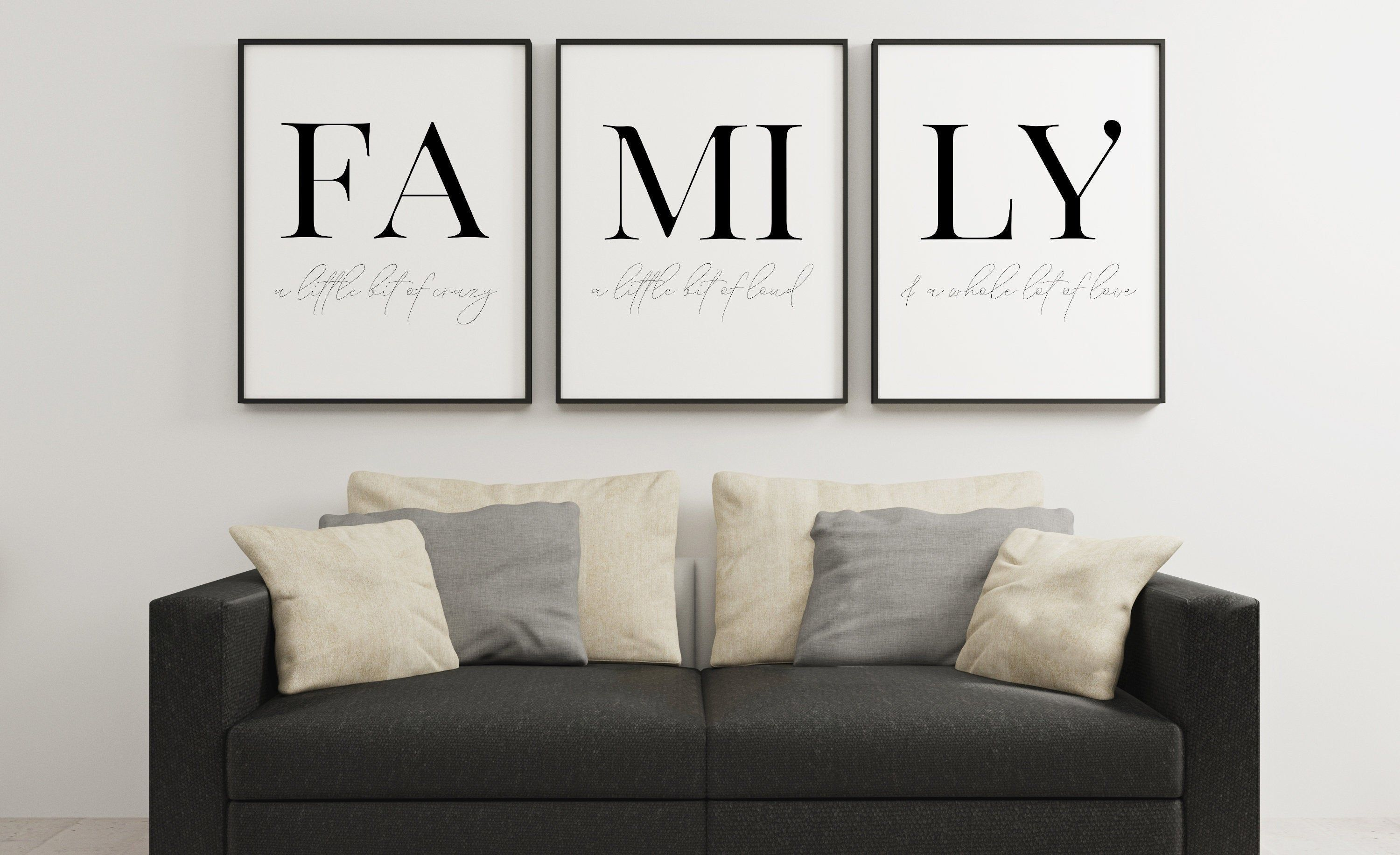 FAMILY SIGN, Home Decor sign,Home Sweet Home,Home Decor Wall Art,Family Prints,Set of 3 Prints,Bedroom Decor,Family Tree,Family Wall Art