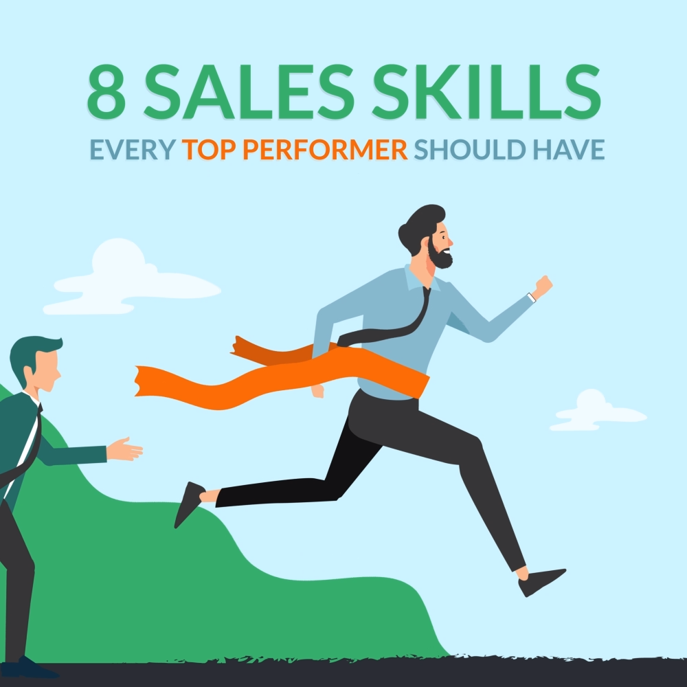 Salesperson Skills Of Top Performers [INFOGRAPHIC]   Learn which eight sales associate skills you'll need to empower yourself or your sales representatives to become top performers. Read on to find out more. #salesperson #representative #marketing #insidesales