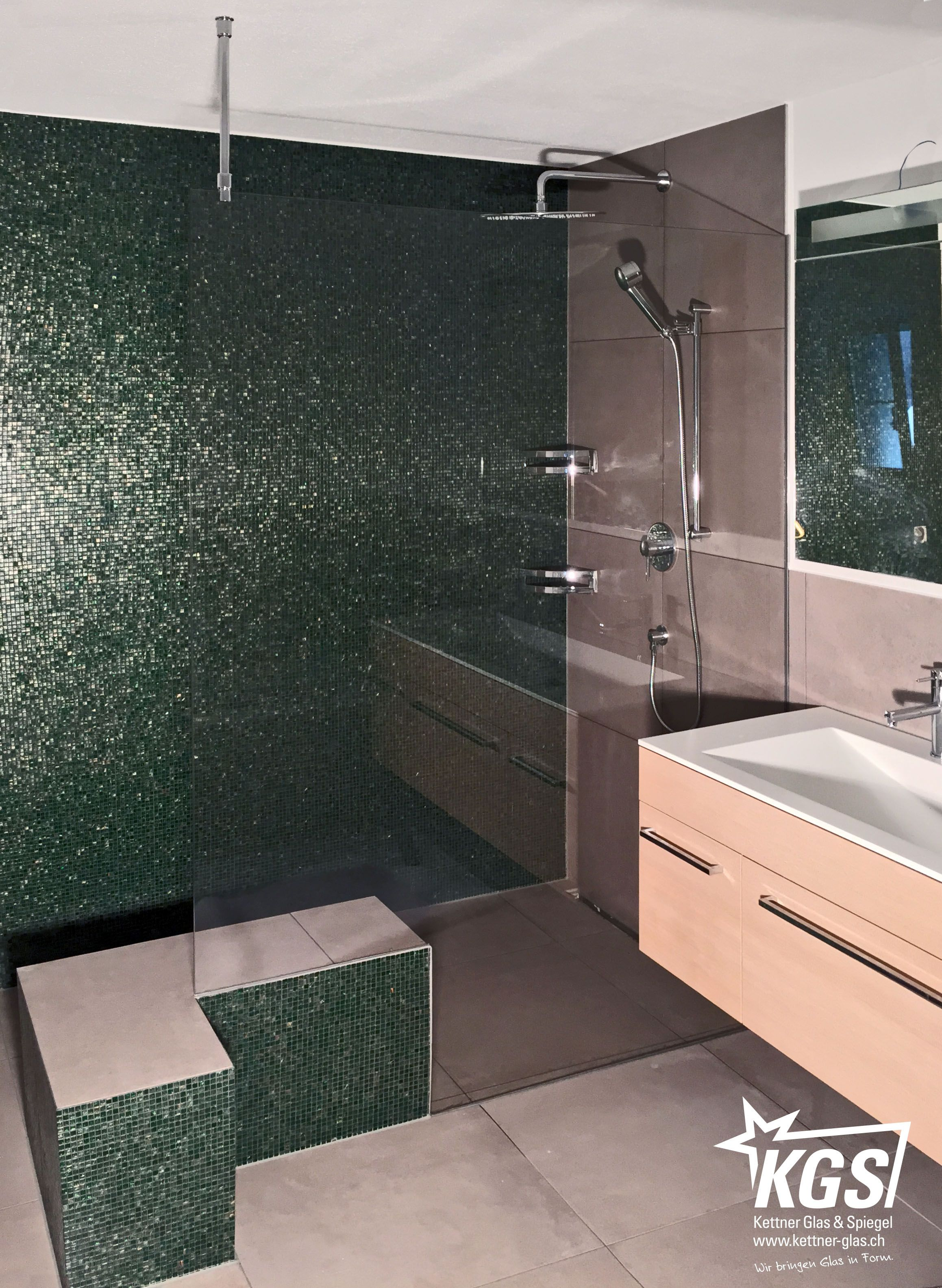 ShowerGuardDuschtrennwand mit Deckenstabilisationsstange