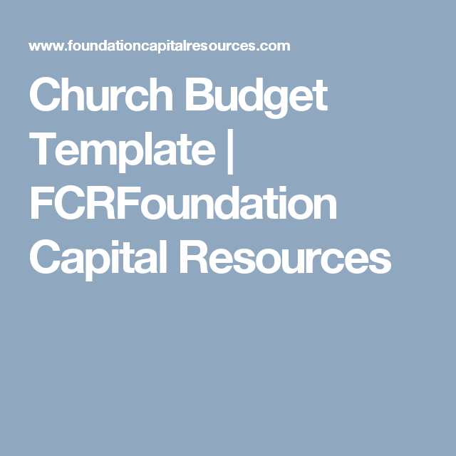 church budget template fcrfoundation capital resources jimex
