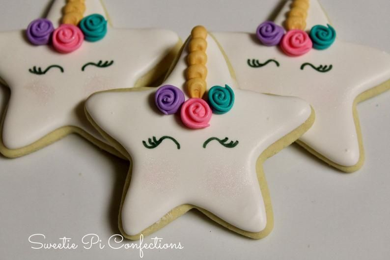 Download Decorated Unicorn Biscuits