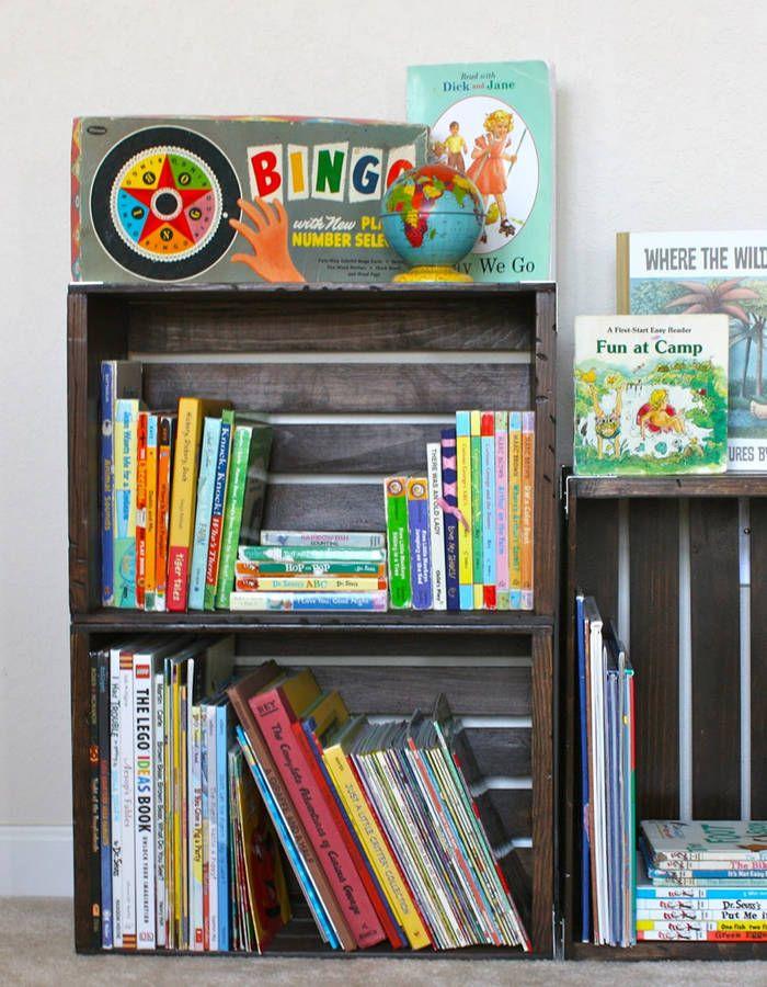 Rangement Livres Enfants Nos Idees Pour Ranger Des Livres Pour Enfants Facilement Elle Decoration Rangement Livre Enfant Etagere A Livres En Caisse Rangement Livre