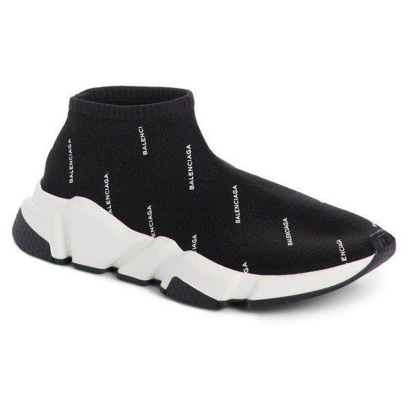Women s Balenciaga Low Speed Sneaker ( 795) ❤ liked on Polyvore featuring  shoes 7d331ab67