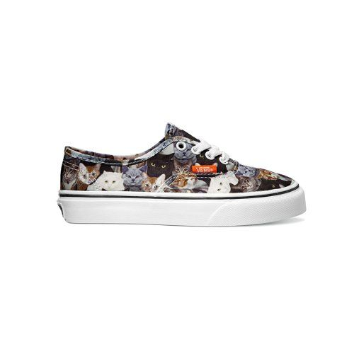 ee82559a17 Vans ASPCA Authentic Cats Girls Skate Shoes