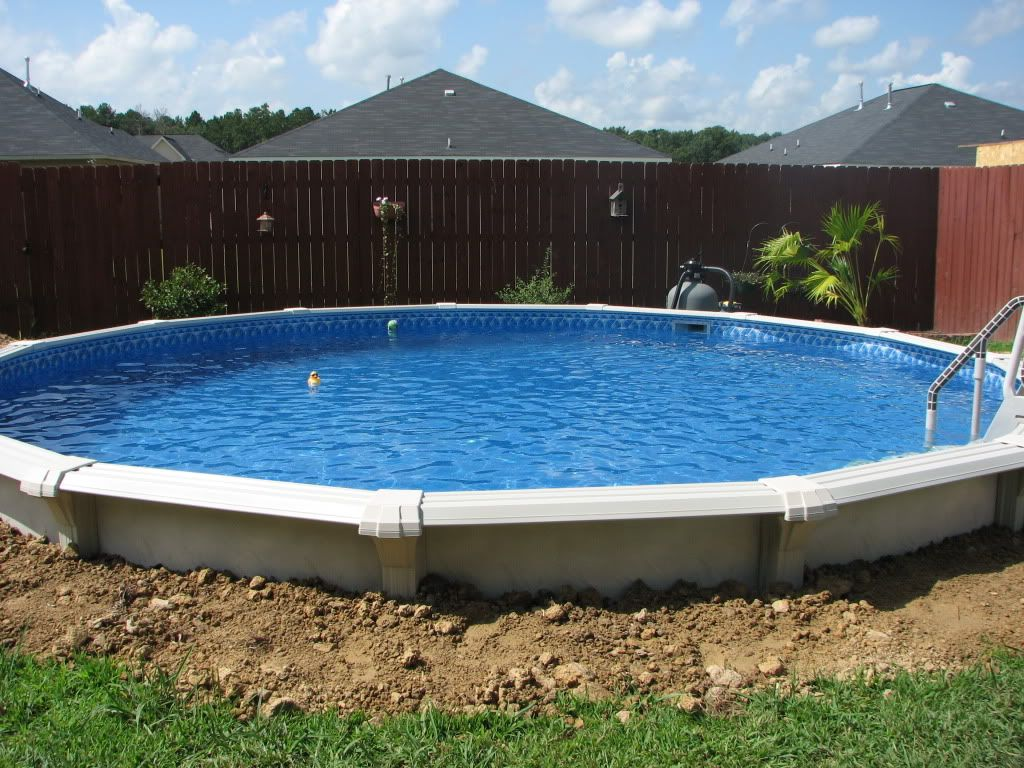 Ways To Fill In Pool Pool In The Ground Above
