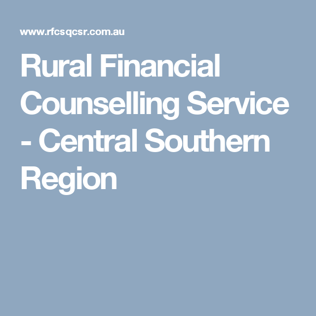 Rural Financial Counselling Service Central Southern
