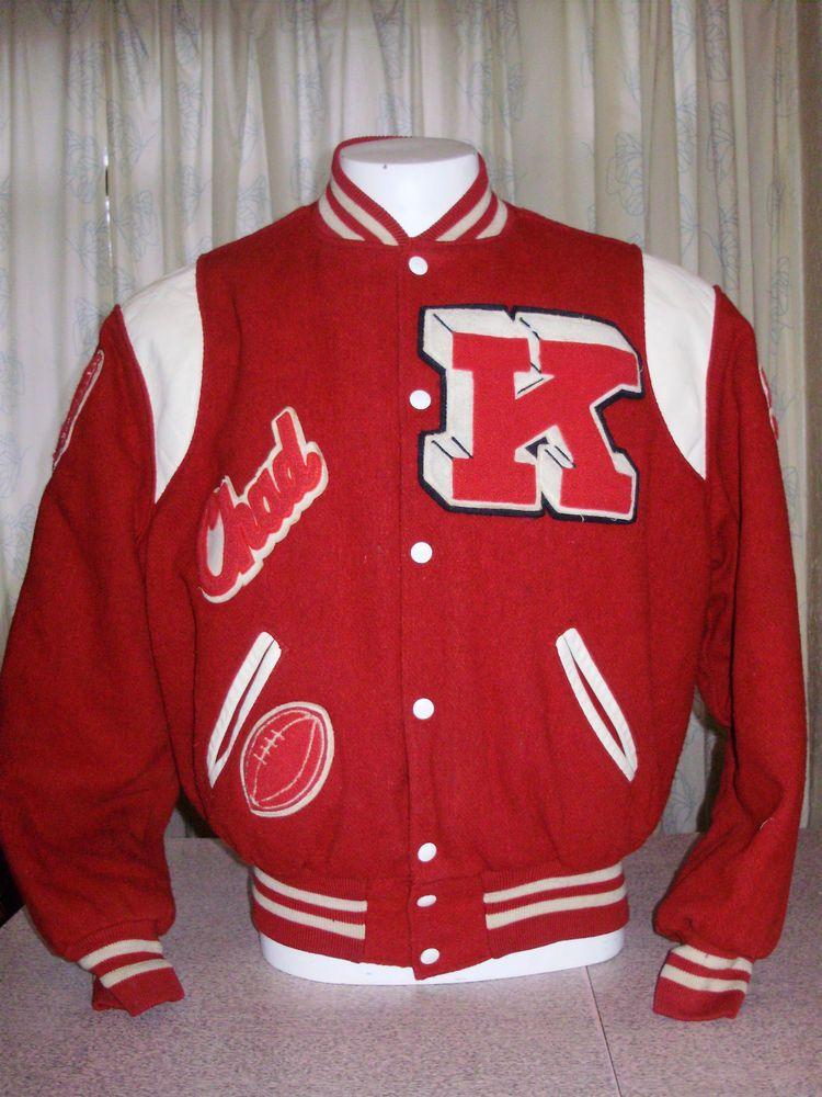 Vintage 1991 Holloway High School Letterman Jacket Size 46 Medium High School Letterman Jacket Letterman Jacket Jackets