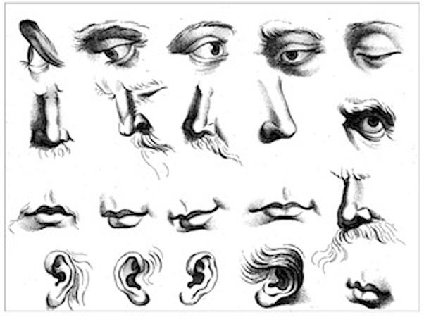 Gerard deLairesse page about drawing mouths and noses
