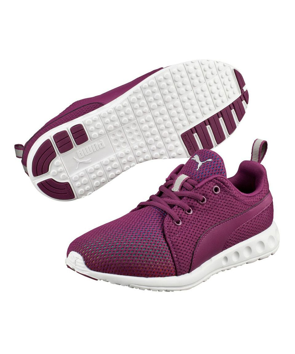 Take a look at this PUMA Magenta Purple & Silver Carson Prism Sneaker - Women today!
