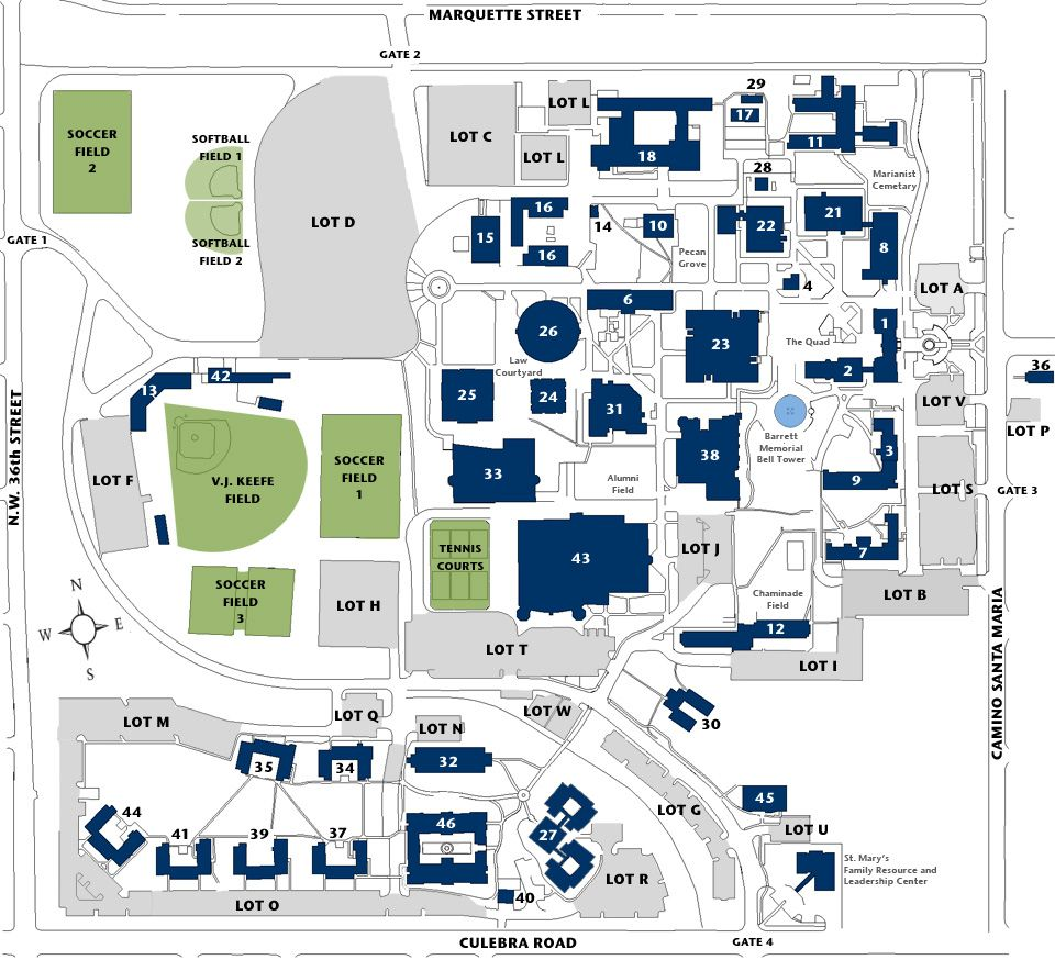 Campus Map | Texas - St. Mary's (San Antonio) | Campus map ... on